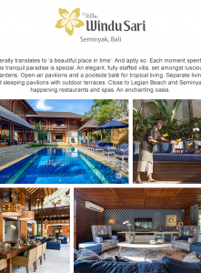 Best Luxury Villas - Villa  Windu Sari