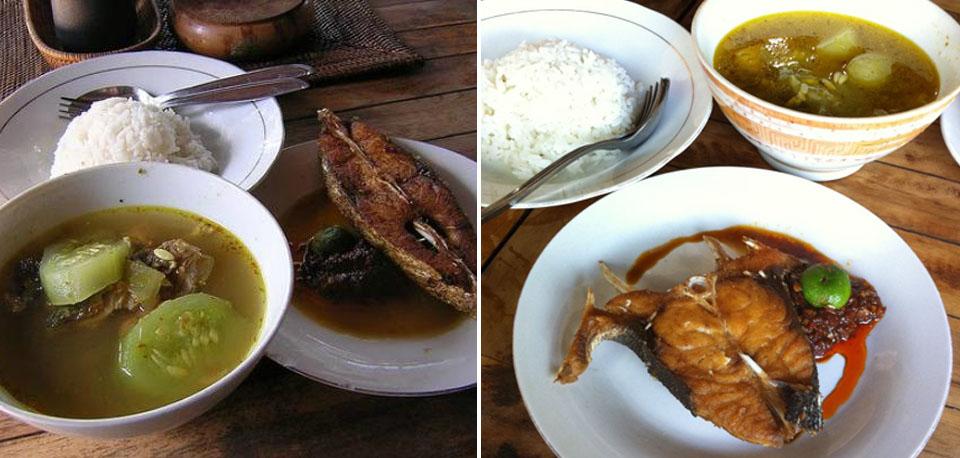 Nasi Ikan at Warung Mak Beng in Sanur.