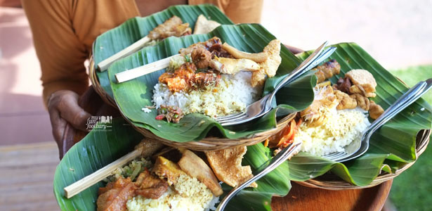 Nasi Campur at Warung Makan Teges in Ubud.