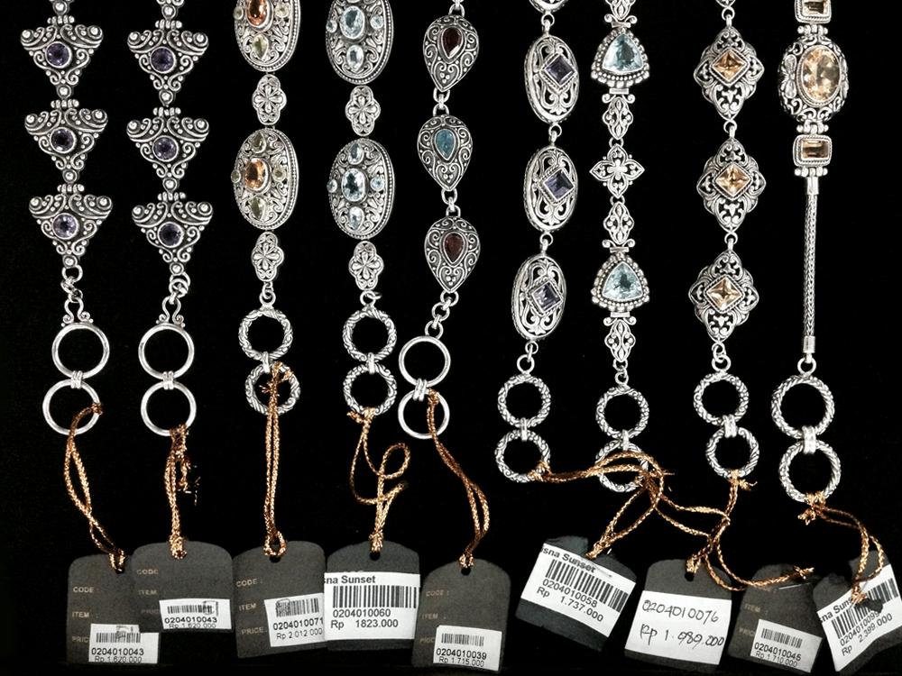 Silver bracelets from Bali