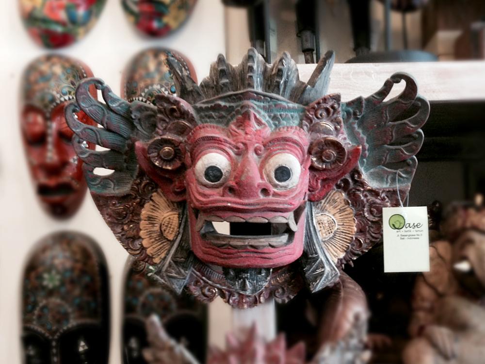 Wood Barong mask Bali souvenir