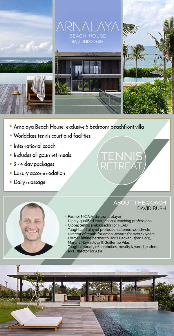 Arnalaya Beach House Canggu Bali Tennis Package