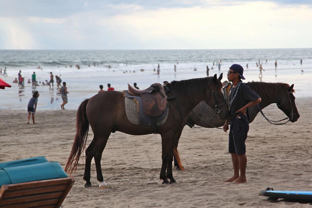 Horseback riding at Seminyak Beach