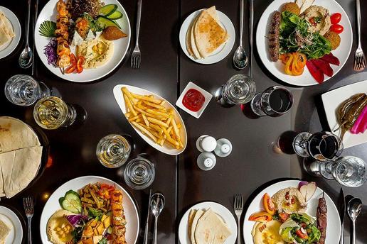 Lebanese food at Al Diwan Seminyak restaurant