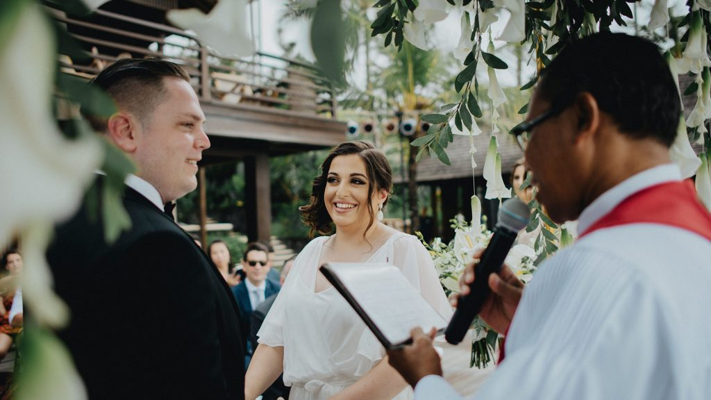 Villa Semarapura Bali wedding ceremony