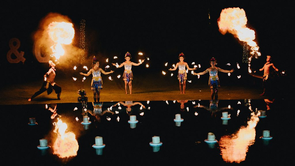 Villa Semarapura Bali wedding fire dancer