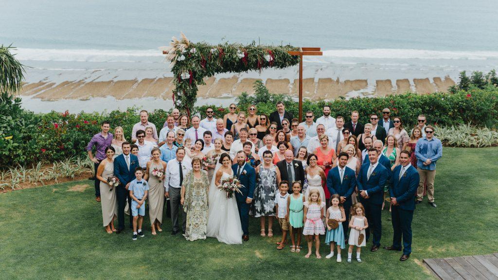 Bali Wedding guests at Pandawa Cliff Estate
