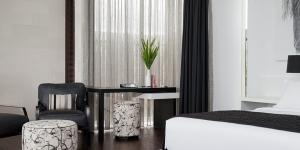 Issi Seminyak Villa Black and White Bedroom
