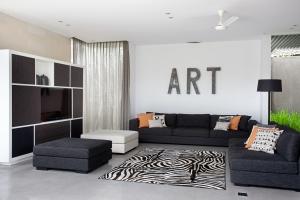 Villa Issi - Black and white interior design Bali