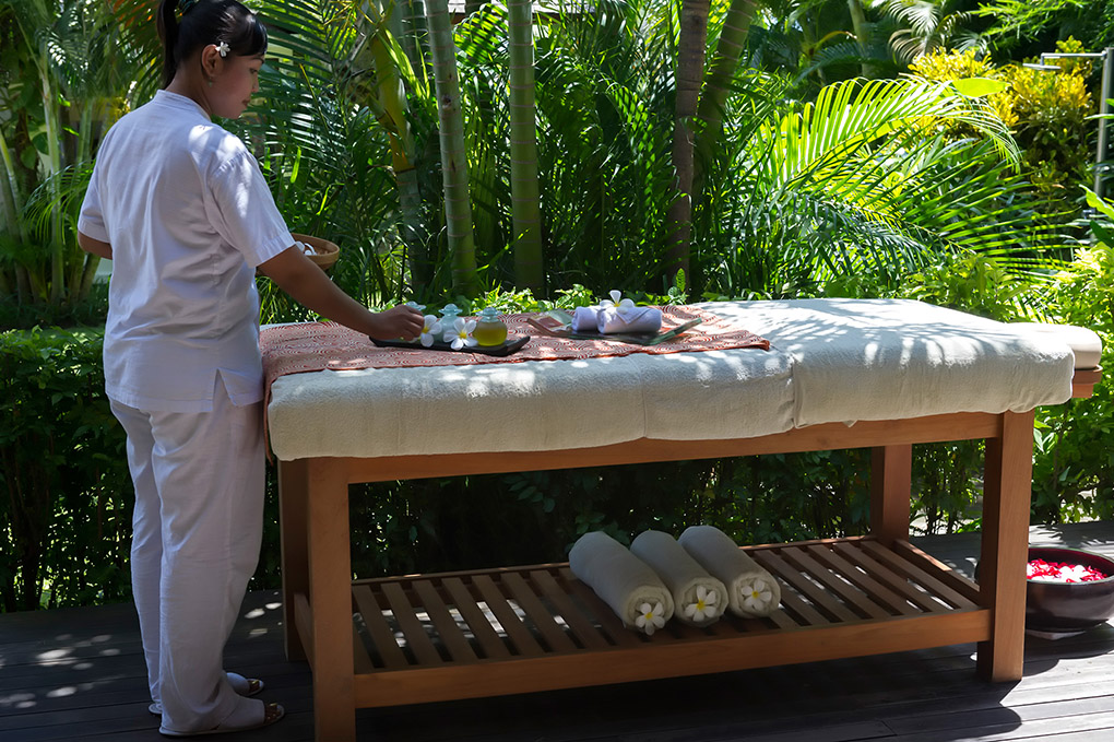 Massage table at Villa Mandalay Bali