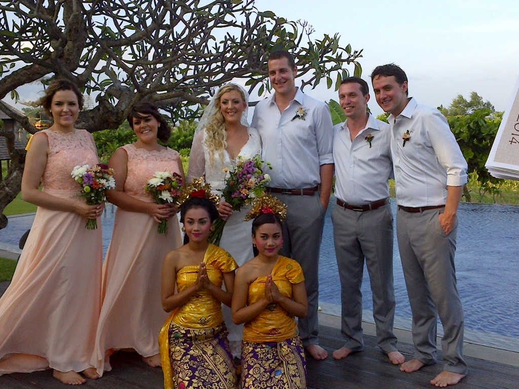 Wedding guests in Bali