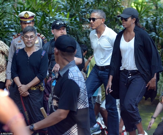 Barack and Michelle in Bali