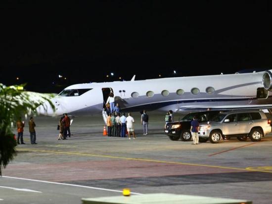 Obama Jet Arrive Bali