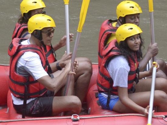 Obamas rafting Ayung River Bali