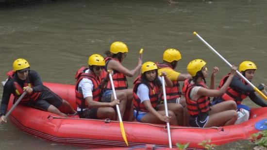 Obama family rafting Ubud Bali