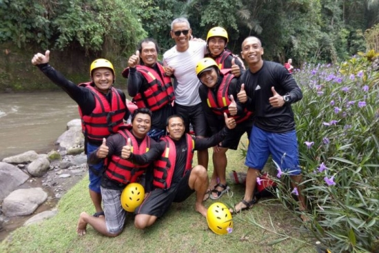 Bali rafting company with Obama