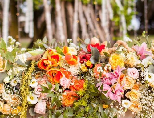 Tropical Island Wedding Flowers