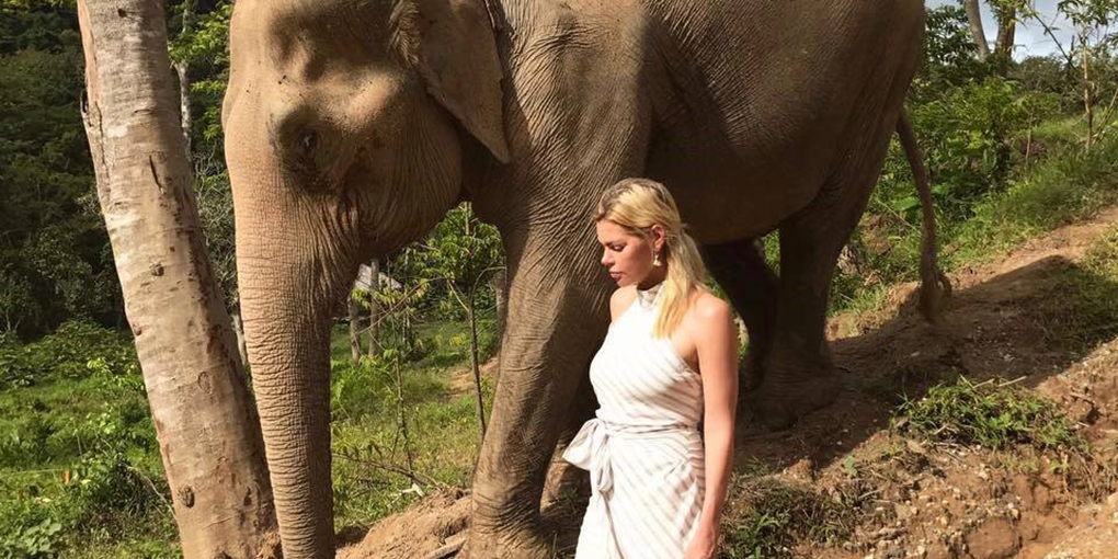 Sophie Monk at Phuket Elephant Sanctuary