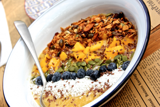 Mango & Passion Fruit Smoothie Bowl