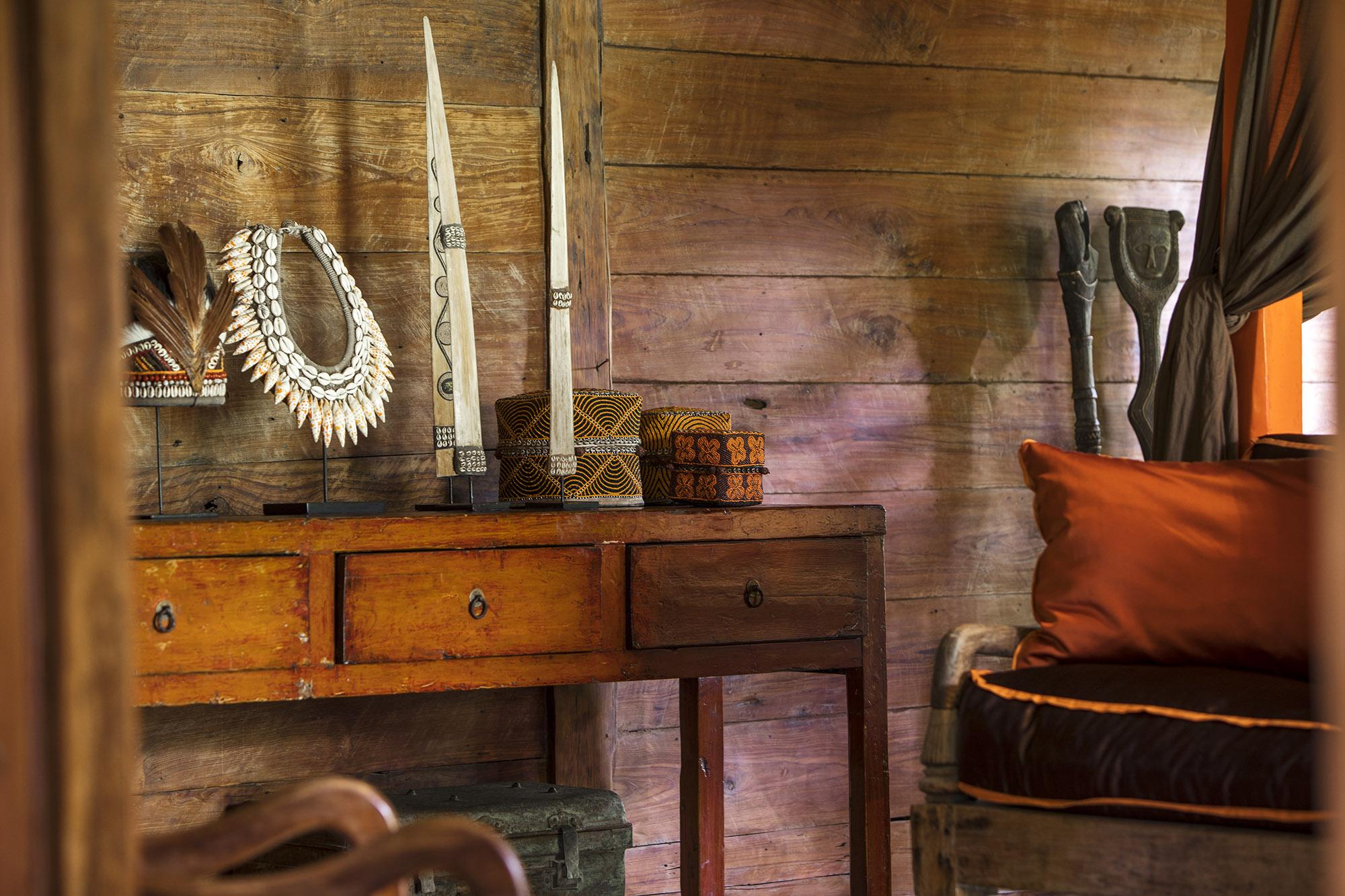 Bali furniture at Villa Zelie