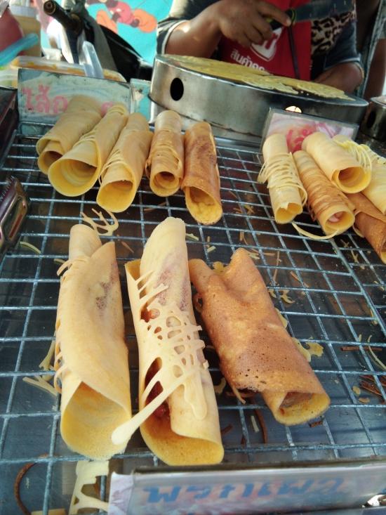 Thai street food crepes