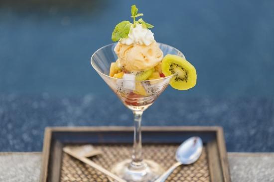 Thai ice cream at Villa Shanti