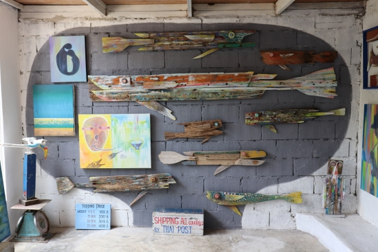 driftwood fish at phuket art village