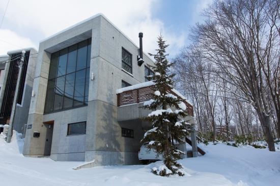 Villa under snow