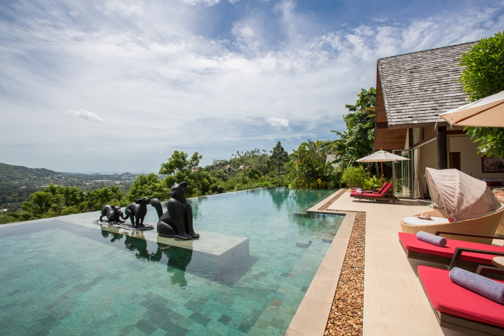 Kalya Residence at Panacea Retreat - Pool area breathtaking view