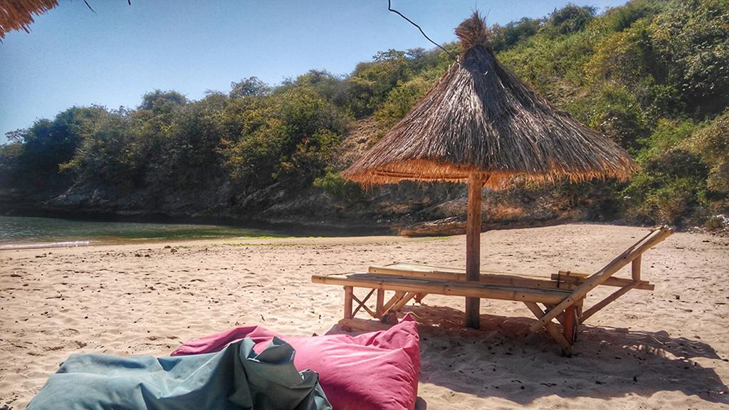 Pink Beach Sun Loungers