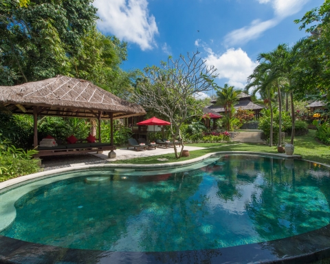 Villa Pangi Gita - Kidney shaped swimming pool