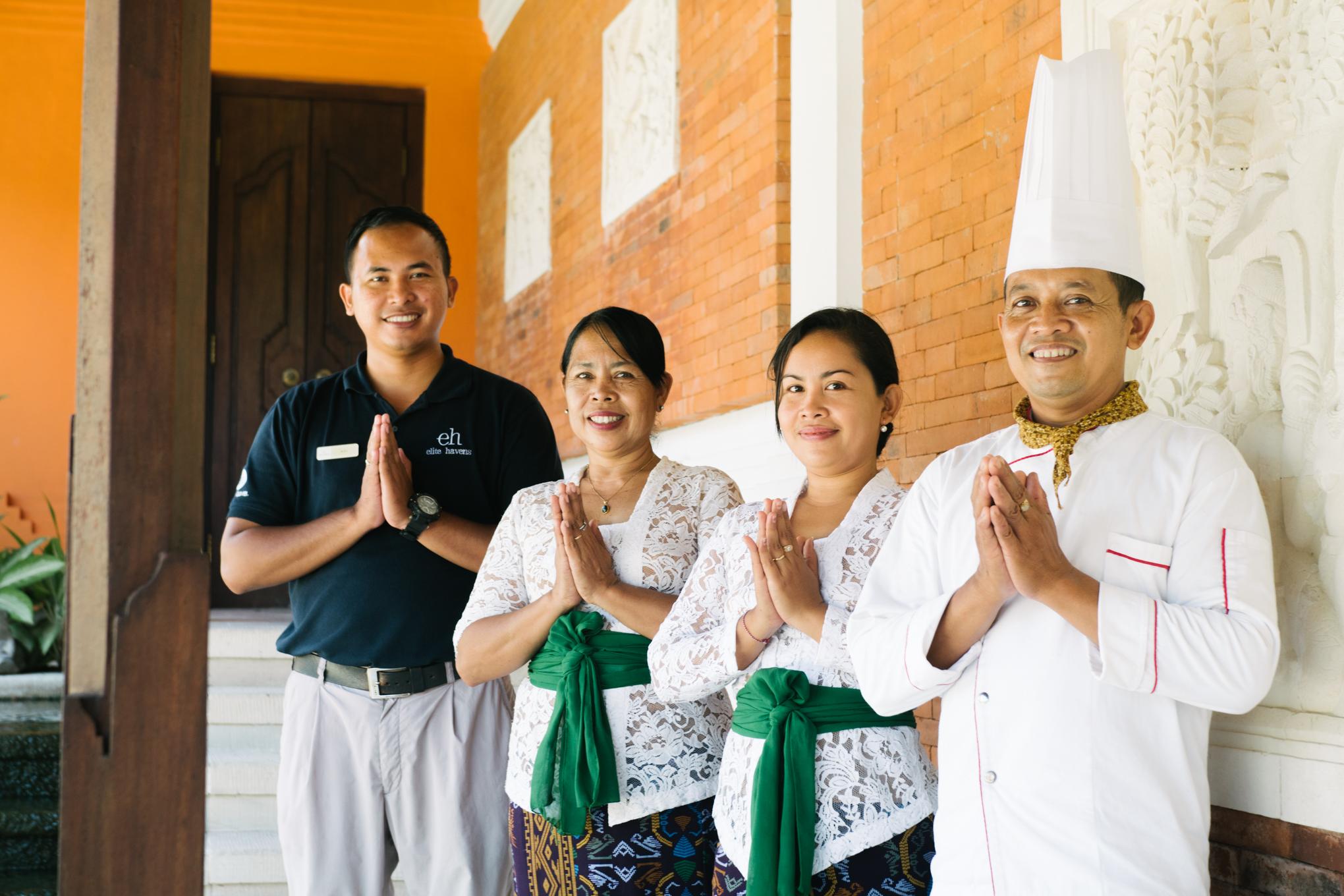 Bali villa staff
