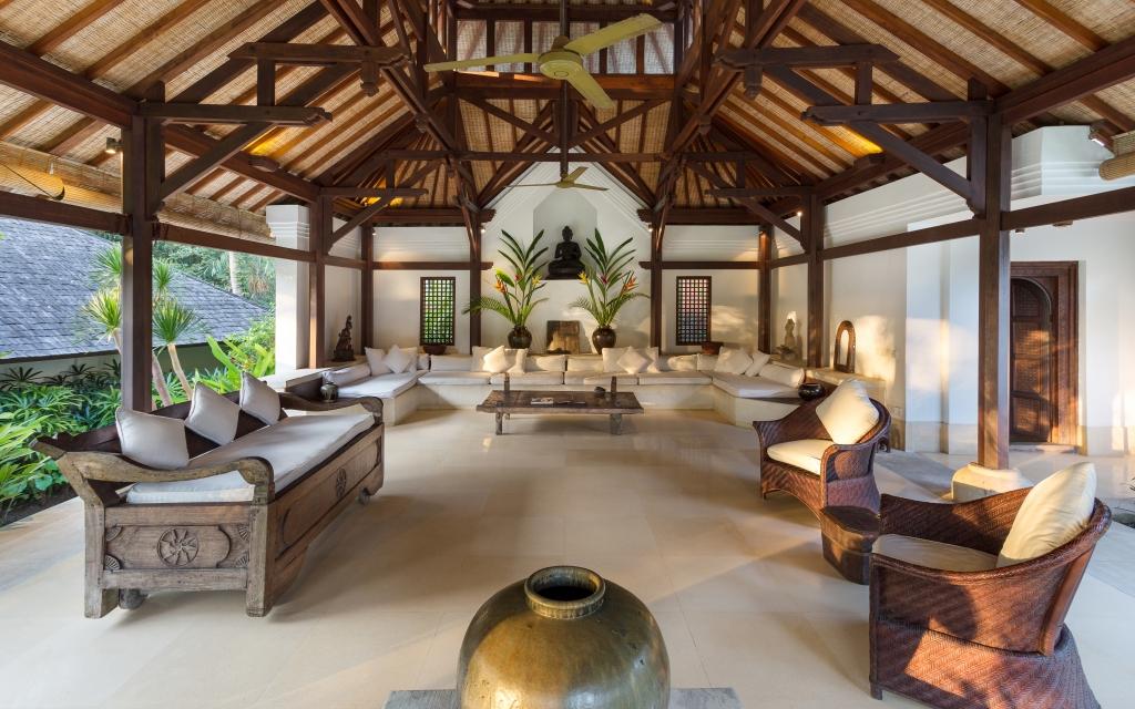 Semi open air living area design