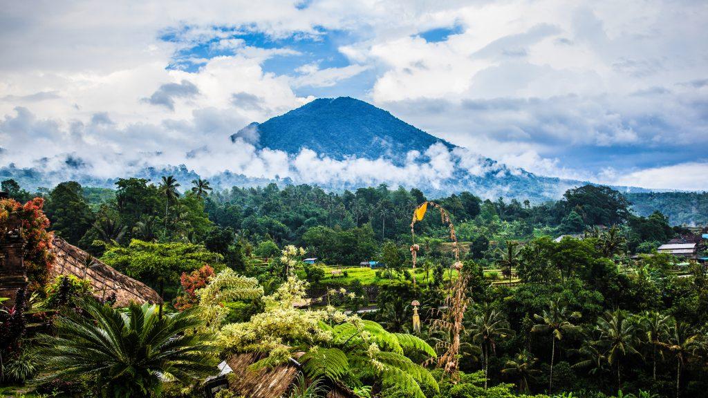 Bali mount scenery