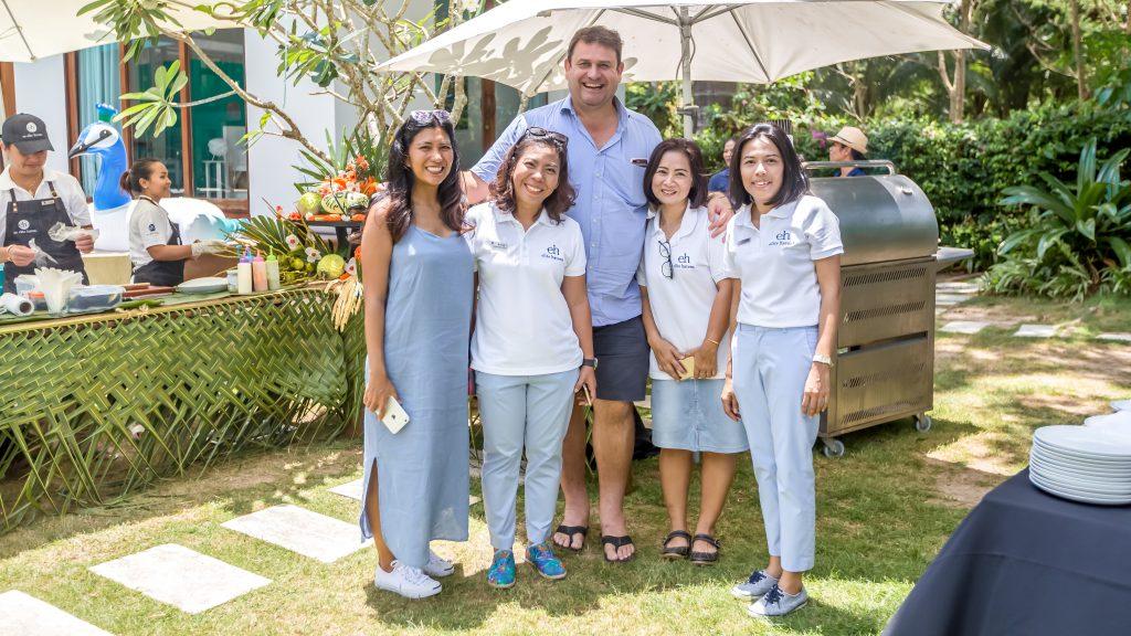 Jon Stonham with Elite Havens staff