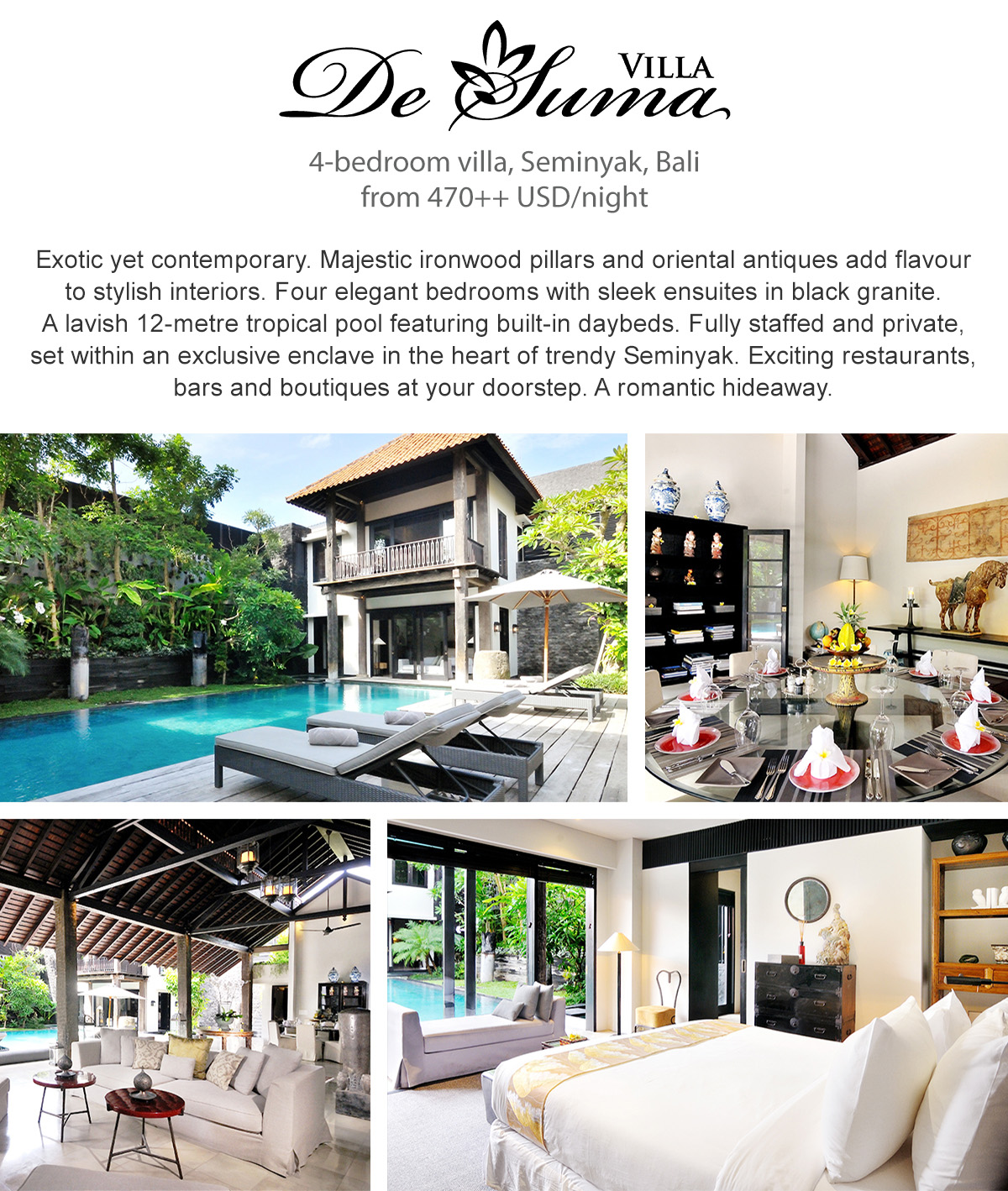 Villa De Suma - Seminyak, Bali