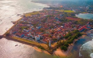 Galle Fort aerial view
